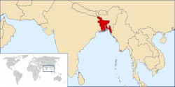 World Map and Bangladesh